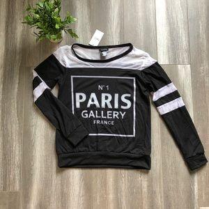 💝5/$20💝 Paris Graphic Long Sleeve Top